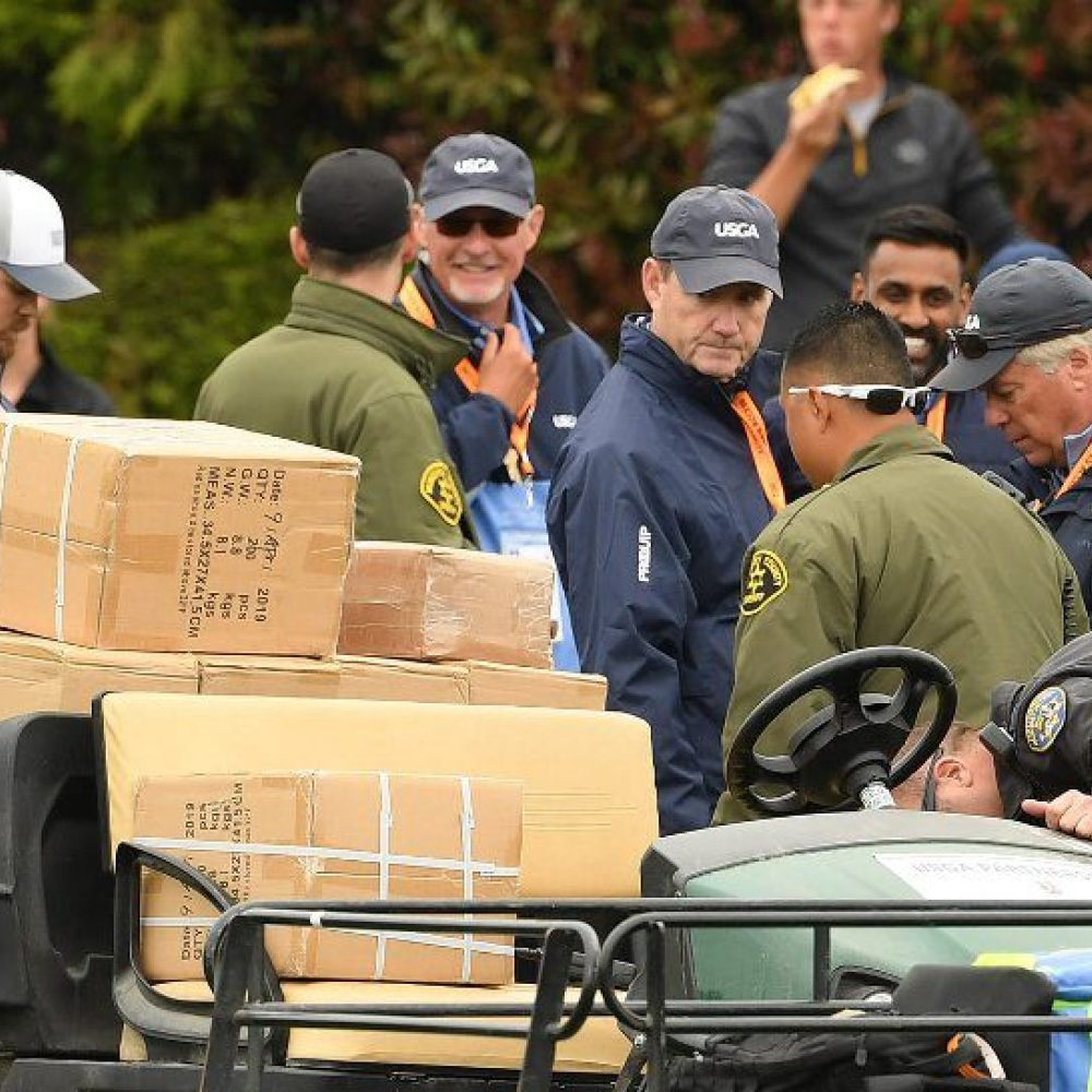 Freak golf cart accident injures five at US Open
